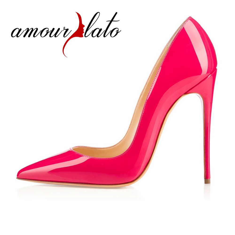 Amourplato Ladies Womens Handmade Sexy 120mm Heels Pointed Toe Classic Party Slim High Heel Pumps Stiletto Dress Shoes US5-13 amourplato women s fashion pointed toe high heel sandals crisscross strap pumps pointy dress shoes black purple size5 13