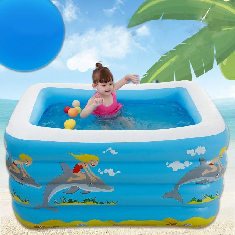 Extérieur bébé enfants pliant piscine gonflable piscine d'eau été famille Portable enfants gonflable piscine