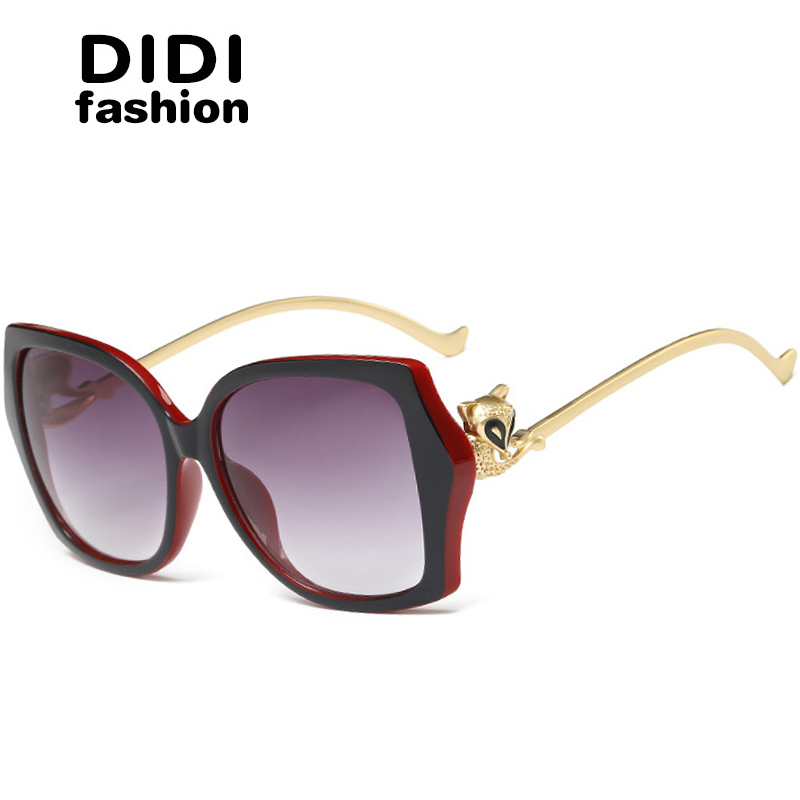 ✓Диди 2017 розовое золото fox Солнцезащитные очки для женщин Для ... 2ed8191d6fd