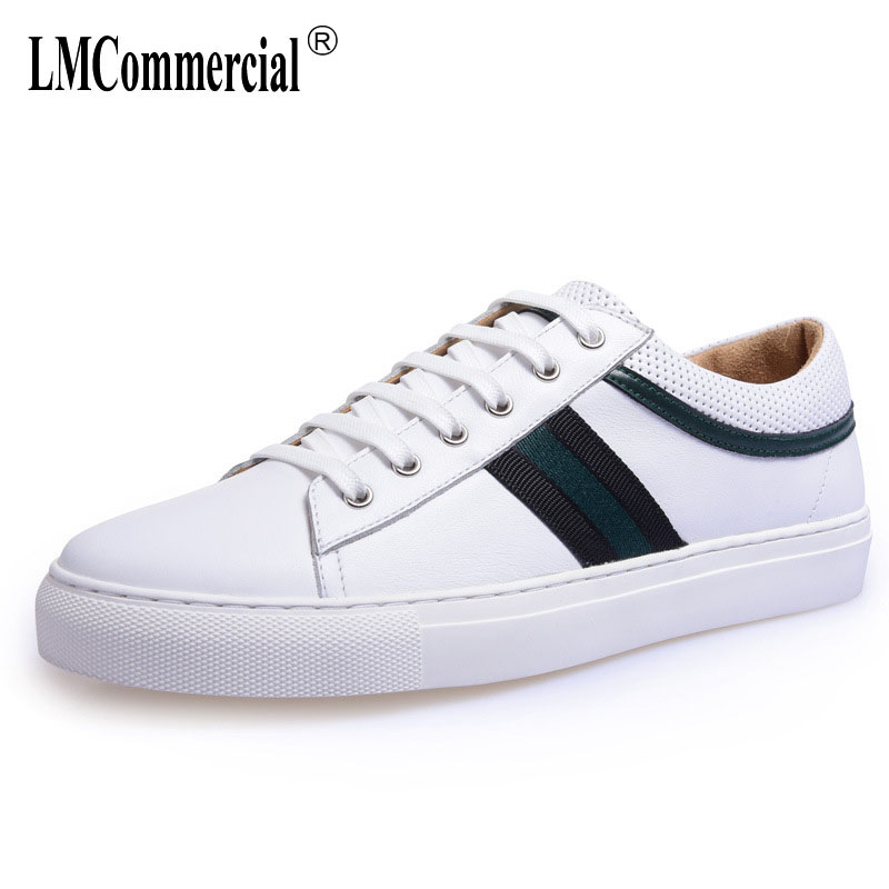 spring and autumn summer New Real Leather White men's Casual shoes British retro shoes Men all-match cowhide Leisure shoes male