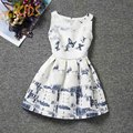 Girl Dress Summer Style Dresses for Girls Casual Clothes Sleeveless Flowers Print Butterfly Party Children Clothing 2016 Sale