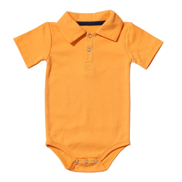 HTB1uZK1mGAoBKNjSZSyq6yHAVXa0 Summer Baby Boy Girl Rompers Turn-down Collar Infant Newborn Cotton Clothes Jumpsuit For 0-2Y Toddlers Bebe Outfits