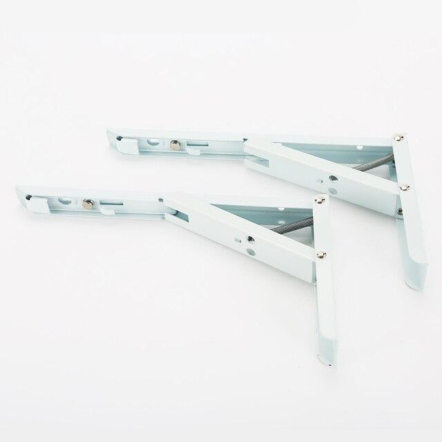 Hohe Qualität 2 stücke Weiß Farbe Stahl Dreieck Regal Klammern ...