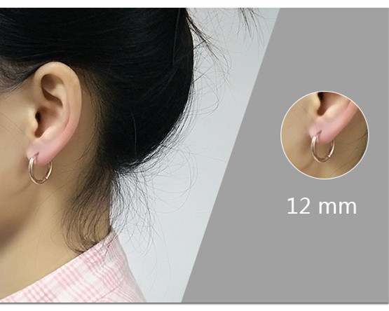 Round stainless steel ear  earrings earrings titanium steel man earrings girl accessories Pakistan