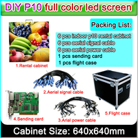 advertising excellent resolution P10 full color led display screen for indoor large video wall