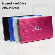 Free shipping On Sale 2.5'' blueendless USB2.0 500GB HDD External hard drive Portable Storage disk wholesale and retail Prices