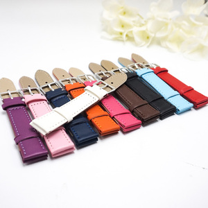 Candy colors Plain weave PU leather strap Watchband 12mm 14mm 16mm 18mm 20mm straps women 2020 New watchbands for watches J019(China)
