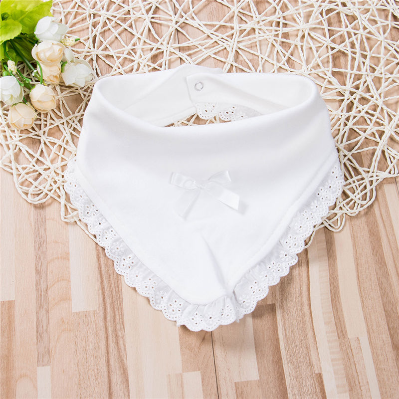 67c042d4605a5 2019 Newborn Baby Bib Infant Kid Feeding Towel Saliva Triangle Dribble  Princess Lace Cotton Baby Bib