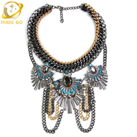 2014 New Popular Women Jewelry Statement Necklace High End Brand Design Crystal Necklaces Pendants Hot Sale