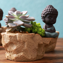 Porcelain Vase decoration home flower pots planters  cute man figure home flower vase buddha decor teraryum