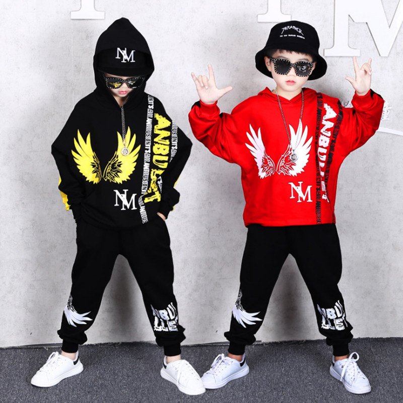 Children's Sets Autumn Boys Fashion Long sleeve Hooded Hoodies + Haren  Sweatpants Vetement Garcon Outfits For 6 8 10 12 14 Years Clothing Sets  -  AliExpress