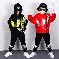 Children's Sets Autumn Boys Fashion Long sleeve Hooded Hoodies + Haren Sweatpants Vetement Garcon Outfits For 6 8 10 12 14 Years