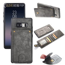 CASEIER Vintage Card Leather Case For Samsung Galaxy S9 S8 Plus S7 Edge Flip Pu Phone Note 8