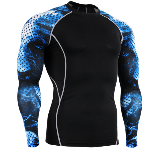 2017 Men soccer football shirt underwear jerseys compression shirt base layer tights skin running Fitness Excercise gym jerseys