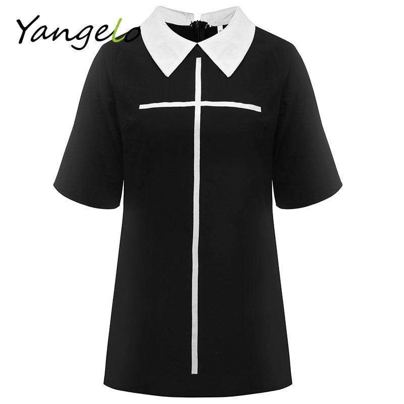 New cross imprimir vestidos 2017 summer casual dress dress de manga corta estilo