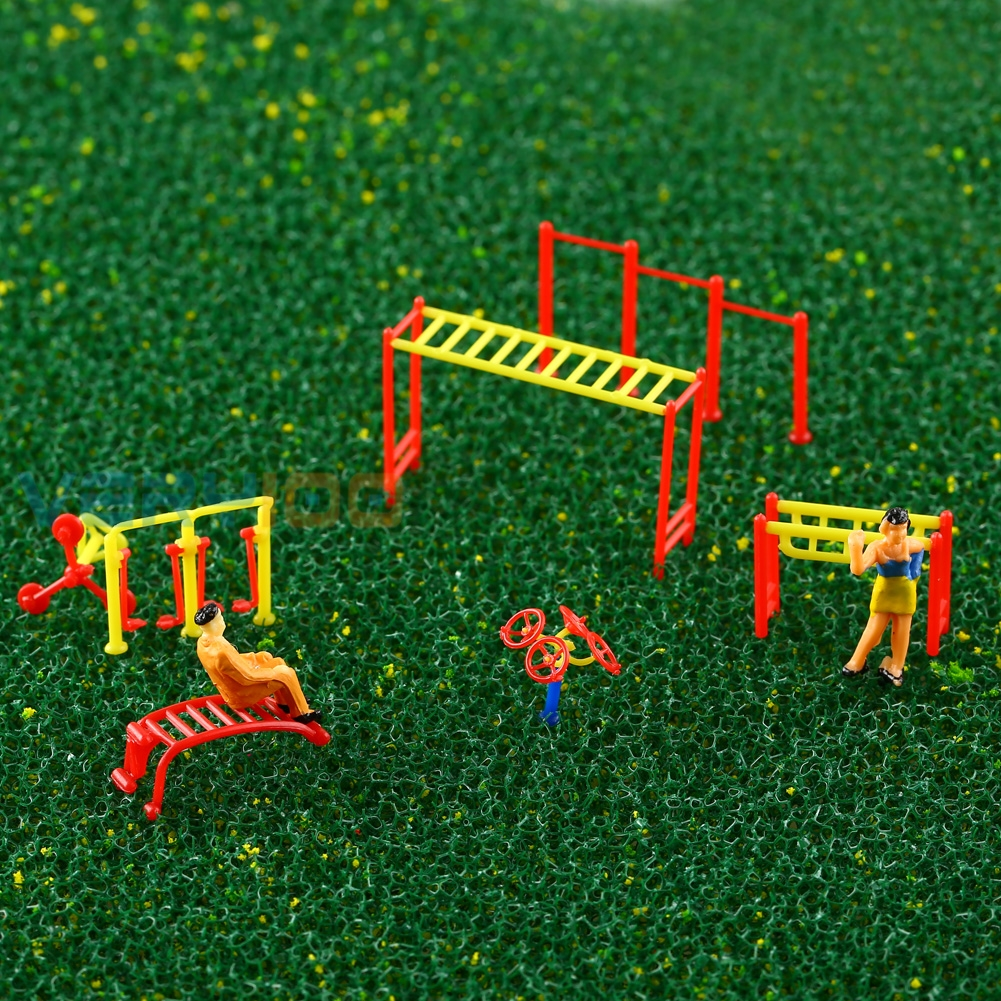 Fitness Gym Equipment Model Chinese Construction Educational 1:150-1:200 Scale