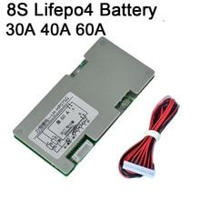 8S 30A 40A 60A Lifepo4 Lithium eisen phosphat Batterie Schutz Bord Inverter W Balance Schaltungen 3S  8S Zell BMS PCB 4S 3,2 V