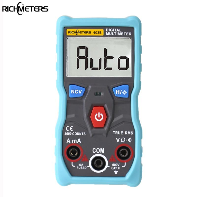 RM403B Automatico Multimetro Digitale a Vero VALORE RMS intelligente NCV 4000 Conta AC/DC Tensione Corrente Ohm Strumento di Prova