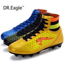 Adult high ankle font b soccer b font shoes men football boots kids botas de futbol