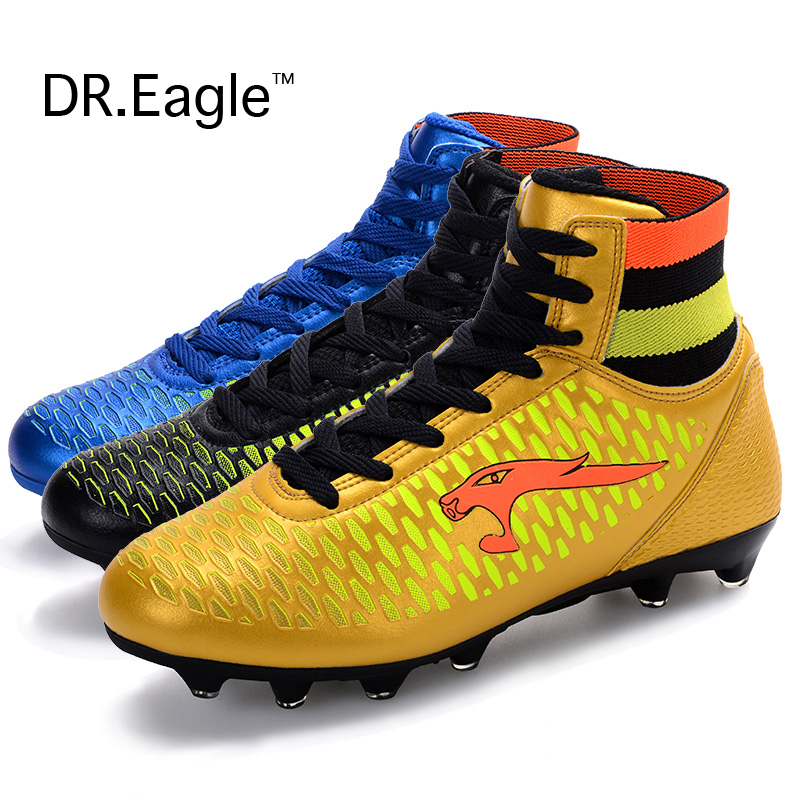 Adult high ankle soccer font b shoes b font men football boots kids botas de futbol