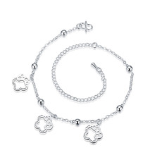 JEXXI 925 Sterling Silver Anklets for Women Girls Fashion Jewelry Pretty Foot Chain Feet Decoration Wholesale Price Bracelet