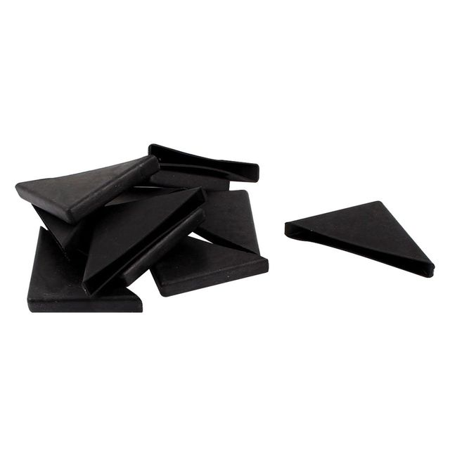 Mach 8mm X 75mm Black Plastic Recessed Furniture Corner Protectors In Edge Corner Guards From