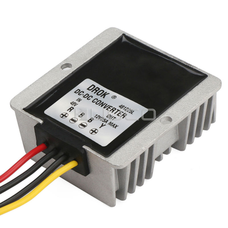 DC Buck Power Supply Module DC 48V(30~60V) to DC 12V 25A 300W Step Down Converter/Voltage Regulator/Adapter/Driver Waterproof 150w buck power supply module dc 12v 24v to 5v 30a step down converter car adapter voltage regulator driver module waterproof