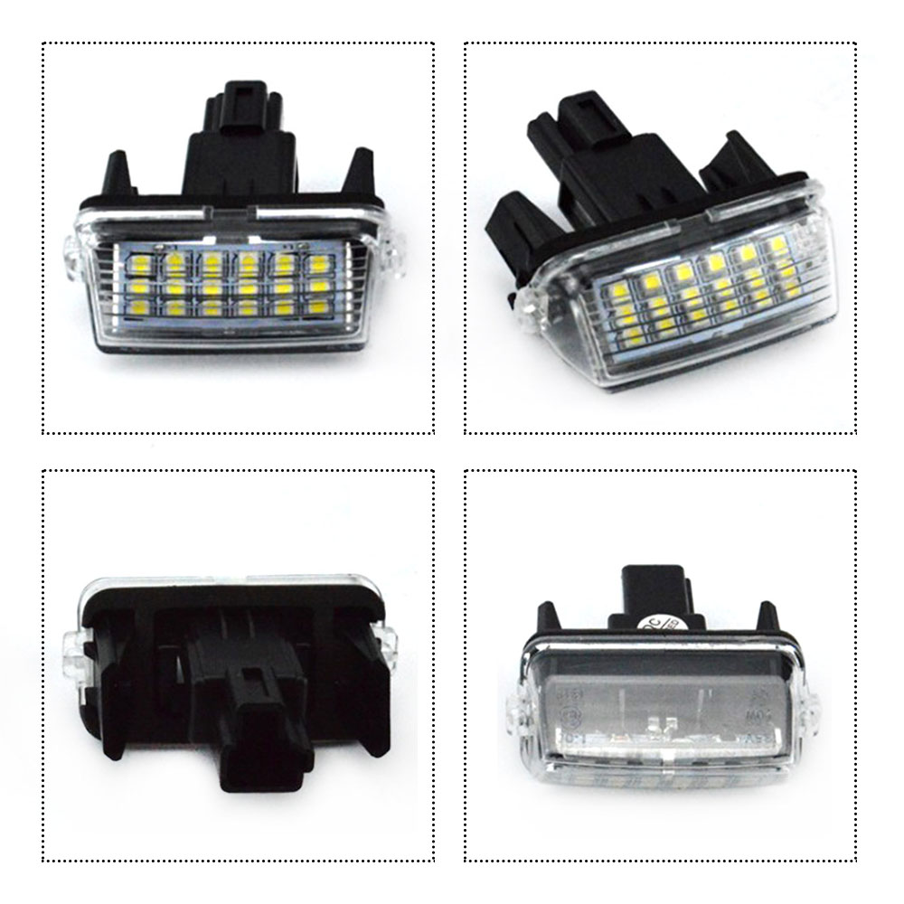 New 2Pcs 18 SMD LED Xenon License Plate Light Car styling For Toyota CAMRY 2012 2015 in Signal Lamp from Automobiles Motorcycles