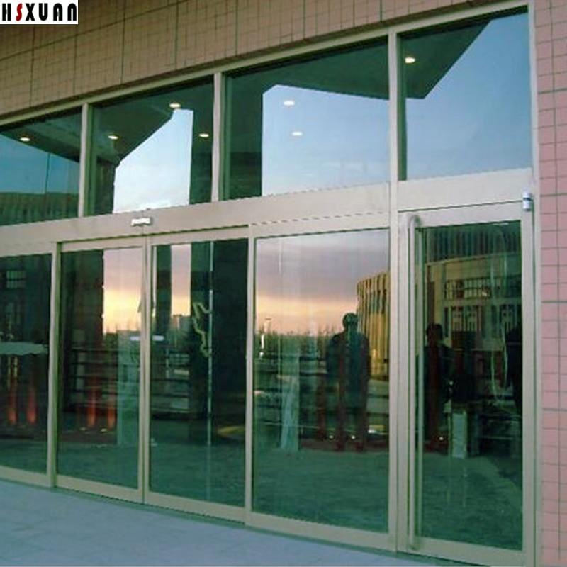 Solar Reflective Decorative Window Film 90x100cm Green One Way