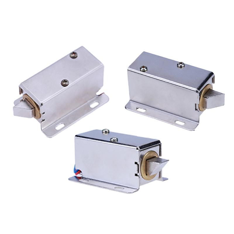 Small Electromagnetic Lock A22-12V Electric Solenoid Lock Cabinet Door Electric Magnetic Lock Assembly Solenoid Lock Three Type