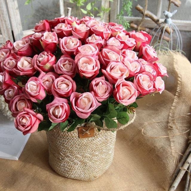 Artificial rose flowers wedding decorations silk flower ball artificial rose flowers wedding decorations silk flower ball centerpieces mint decorative hanging flower home decorative bonsai mightylinksfo