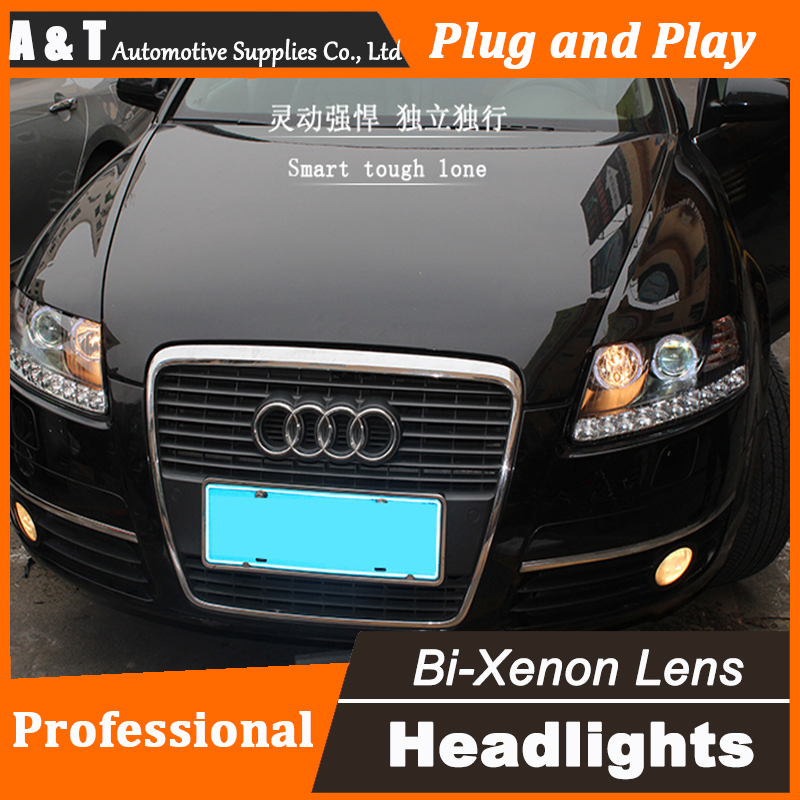 Car Styling for Audi A6 C5 Headlight assembly 2005-2012 A6 LED Headlight DRL Lens Double Beam H7 with hid kit 2 pcs.