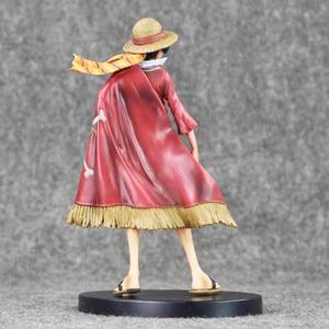 Image 3 - Anime Een Stuk Monkey D Luffy De Ultieme Koning Ver. Rode Mantel Pvc Action Figure Op Luffy Collectible Model Toy 18 Cm