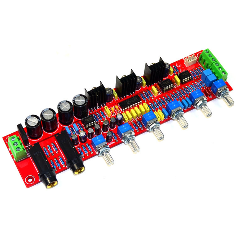 PT2399 Microphone Preamplifier NE5532 independent channel volume adjustment bass frequency adjustment AC12 15V in Amplifier from Consumer Electronics