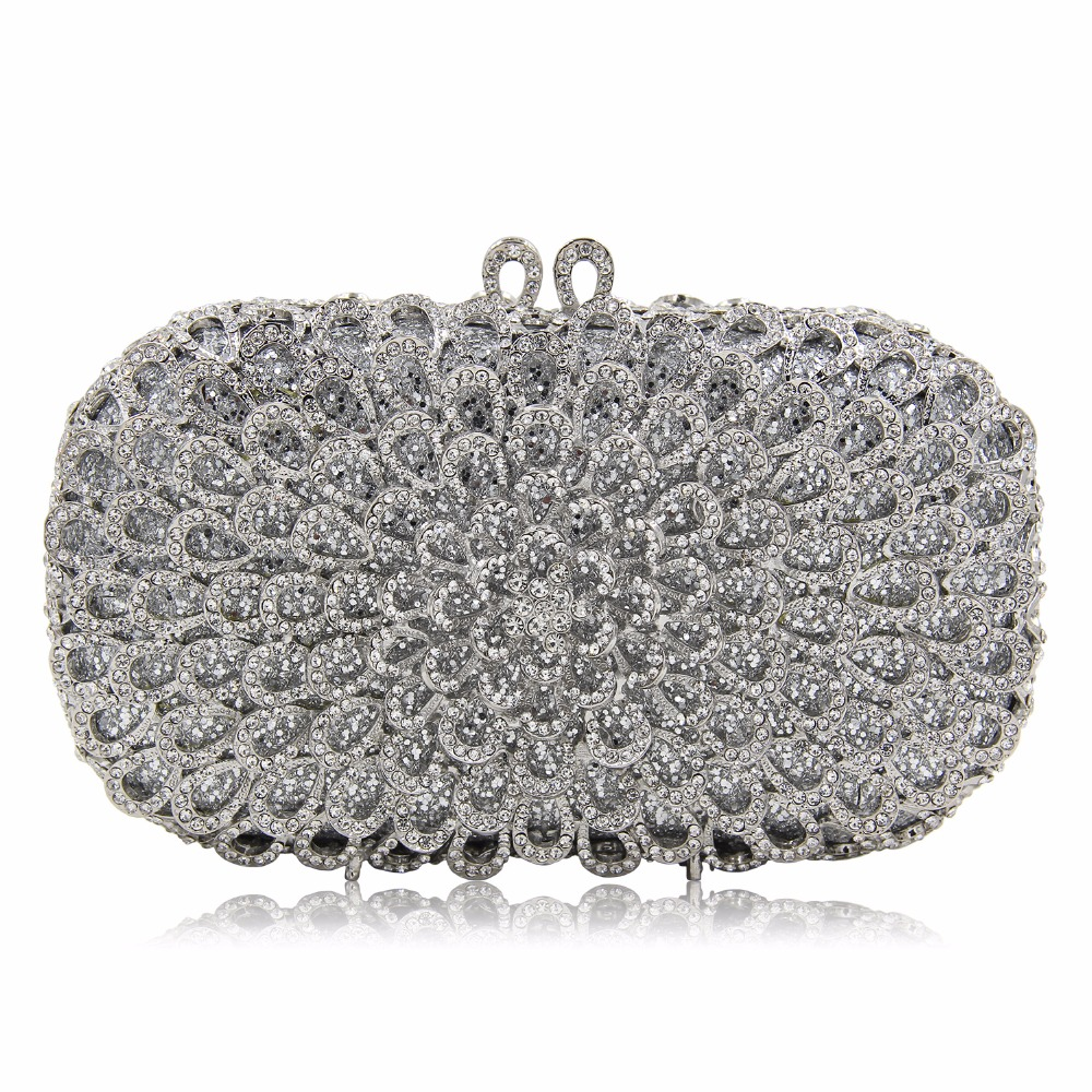 DAIWEI Luxury evening bag Crystal women party purse bags Ladies wedding bridal formal clutch bags banquet bag Day Clutches BL087 стоимость