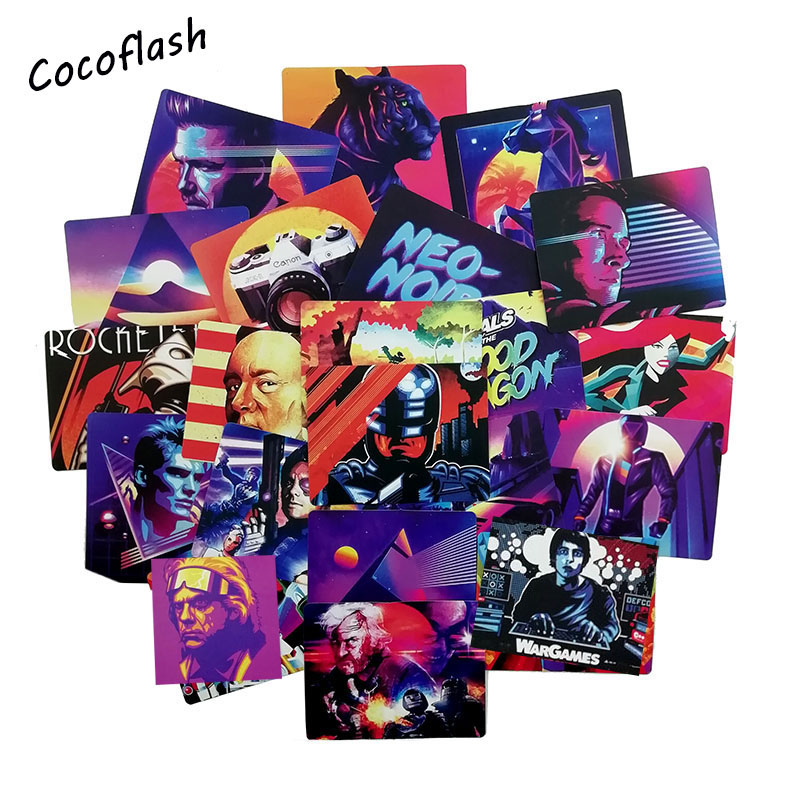 51PCS Nostalgia Retro Movie Graffiti Stickers For Notebook PC Skateboard  Motorcycle DIY Waterproof Toy Sticker