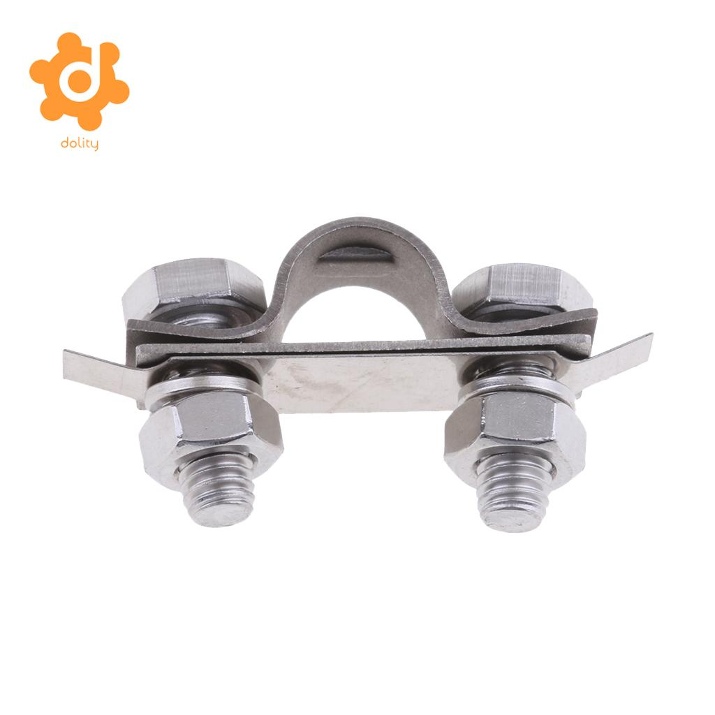 2Pcs 304 Stainless Steel Control Throttle Cable U Shaped Clamp and Shim Kit