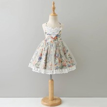 2018 New Summer Girls Dresses Kids Suspender Floral Lace Tulle Dresses Easter Holiday Children Clothes children s dresses new girls dresses printed rural children s beach dresses holiday wind factory direct sales spot