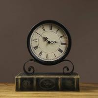 Vintage Silent Retro Clock Desk Clock Decorative Kitchen Table Clock Movement Relojes De Pared Casa Antique Style Clock 50ZB72