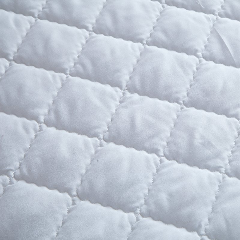 white quilting bed pad fitted sheets linens sanding polyester fabric multi-size mattress protection cover 8