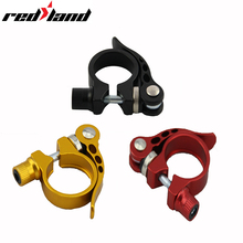 REDLAND 31.8mm Bicycle Seat Post Clamp Aluminum Alloy Quick Release   Ultralight Bike Clamping Clip Useful Bike Parts aest 31 8mm aluminum alloy bicycle seat post clamp black