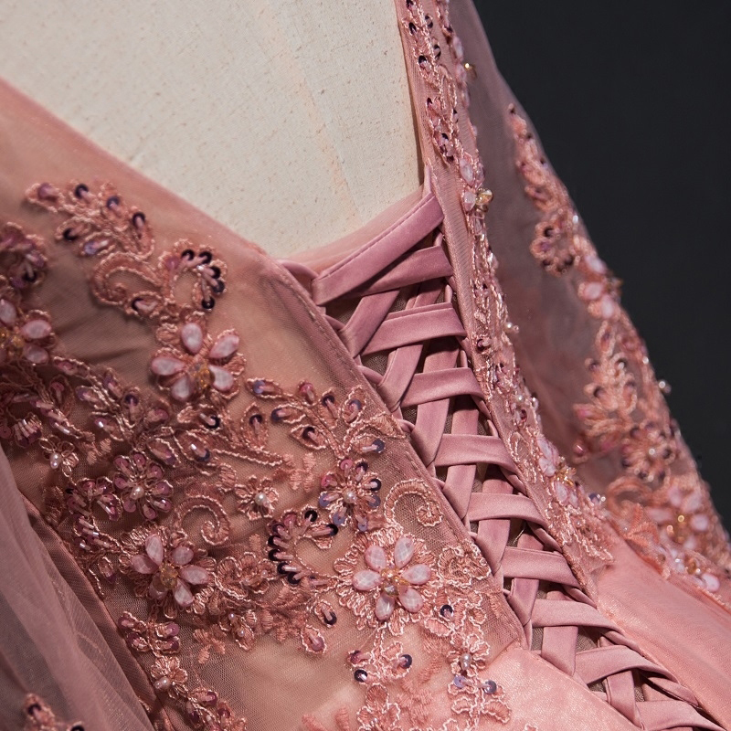 Trend lengan panjang renda gaun malam majlis elegan majlis wanita - Gaun acara khas - Foto 4