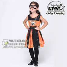 Girls Superhero Halloween Cosplay Costumes Batgirl Fantasia Vestido Fancy Tutu Dress Kids Disguise Carnival Party Outfit