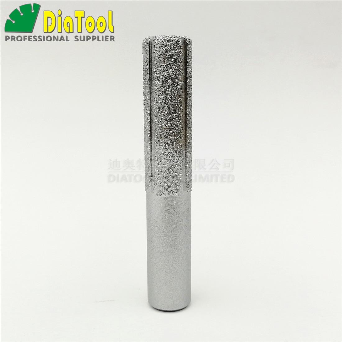 1pc Straight Diamond Vacuum Brazing Brazed Router Finger Bit Grinding For Marble Granite Knife Brazed Diamond Router Bits Cutter Making Things Convenient For Customers Tools