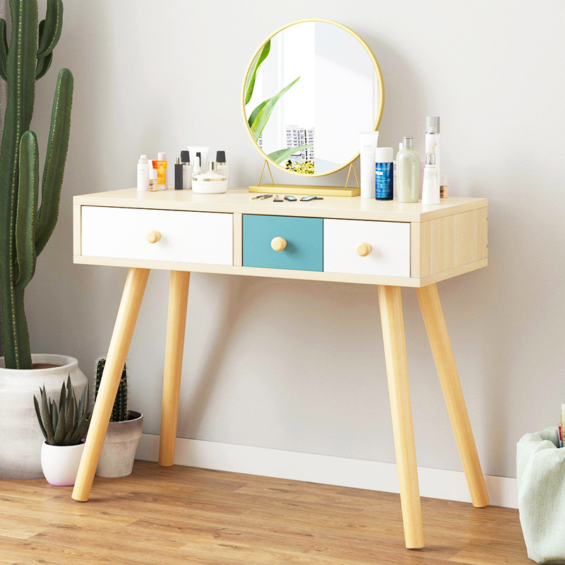 Bedroom Dressing table Wooden Dressers With drawer cosmetic organizer Storage cabinet Computer Desk fashion FurnitureBedroom Dressing table Wooden Dressers With drawer cosmetic organizer Storage cabinet Computer Desk fashion Furniture