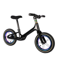 Pedal-menos equilíbrio bicicleta de carbono crianças aprender a andar equilíbrio bicicleta para 2 ~ 6 anos crianças luz completa bicicleta de carbono