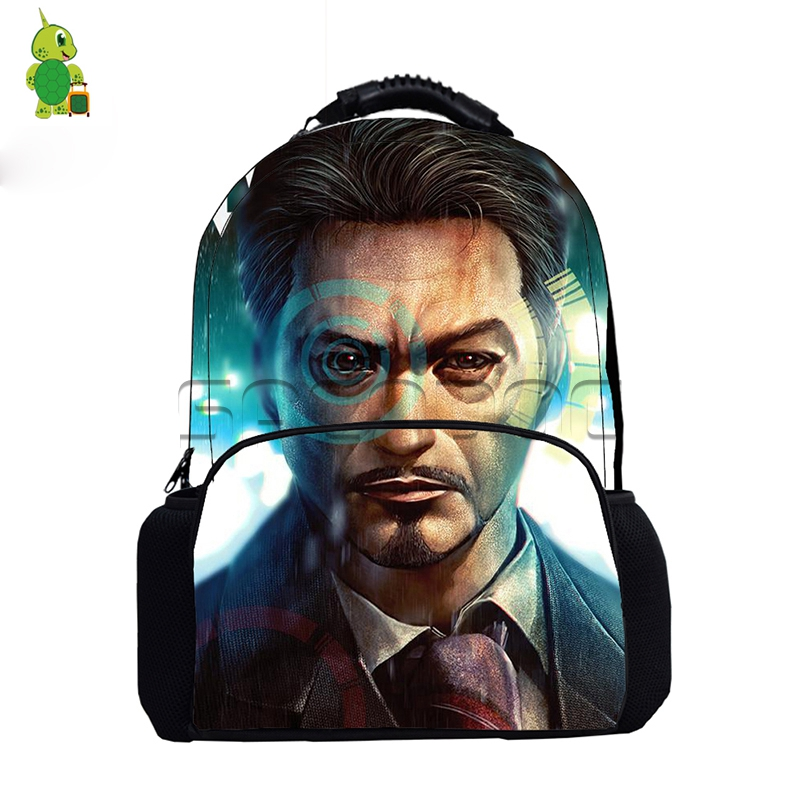 Рюкзак с принтом «мстители» для женщин и мужчин, повседневные дорожные сумки с принтом «Человек паук», «Железный человек», школьные сумки д