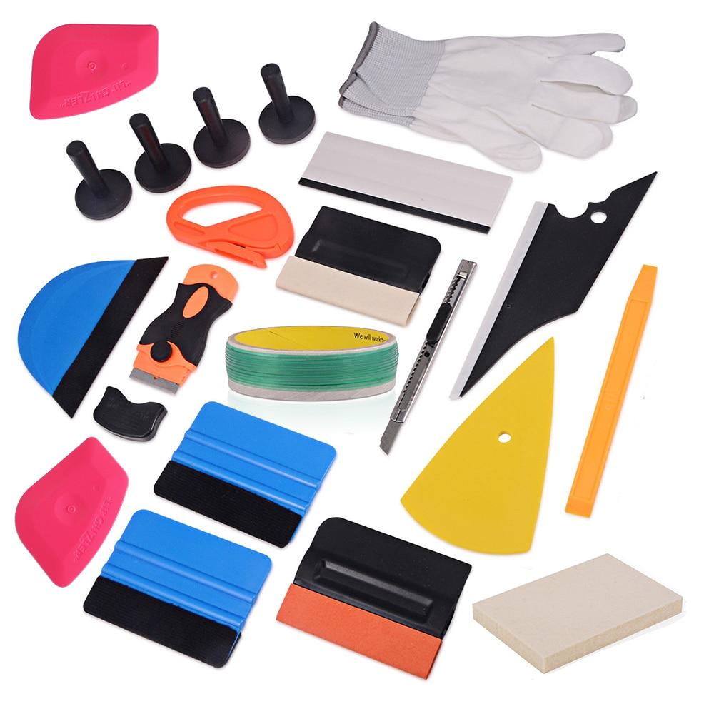 EHDIS vinyle couteau bande Design ligne housse de voiture en vinyle raclette grattoir feuille de carbone Film fenêtre teinte outil autocollant accessoires Kit
