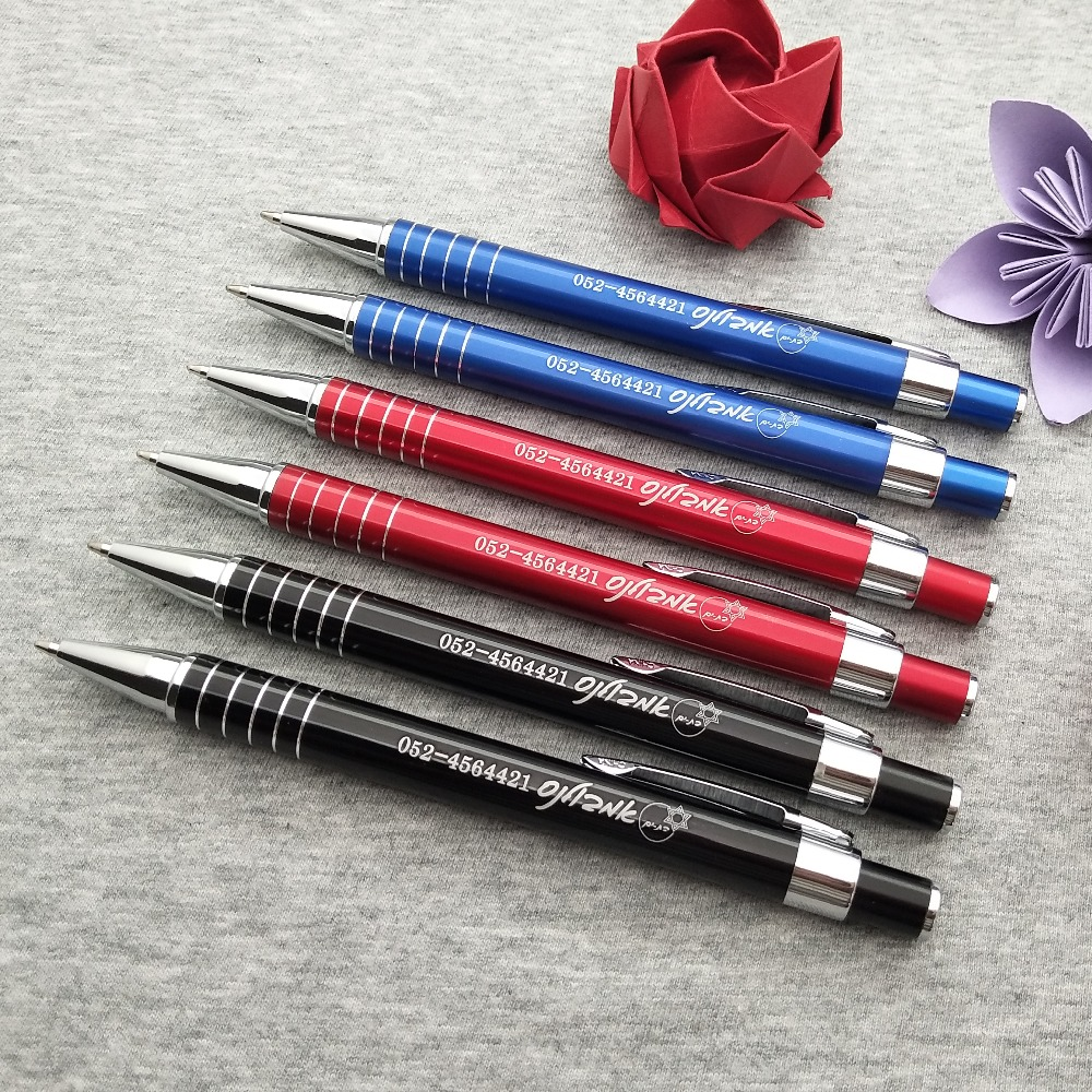 Wholes wedding party giveaways cheap company events souvenirs 500pcs metal pen custom free with any logo text phone address in Ballpoint Pens from Office School Supplies