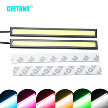 GEETANS 2Pcs 17cm COB LED DC12V Daytime Running lights led waterproof Auto Car Driving DRL LED lamp car styling G